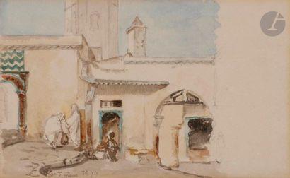 éCOLE ORIENTALISTE Paysages d'Algérie, 1879...