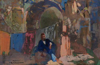 Sarkis KATCHADOURIAN (1886-1947) Oriental...