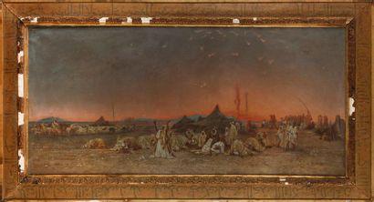 École Orientaliste du XIXe siècle  Camp bédouin,...