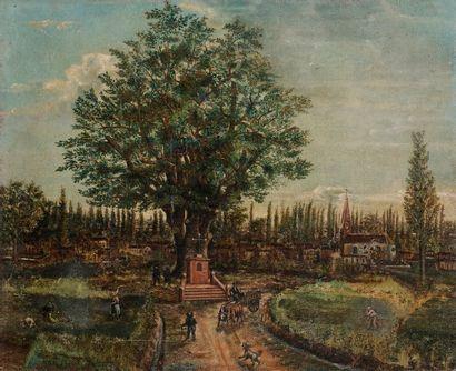 École NAÏVE VERS 1900  L'Entrée du village...