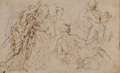 Attribué à Salvator ROSA (1615 - 1673)  Apollon...