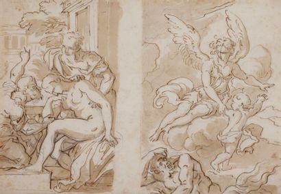 Cornelis SCHUT (1597 - 1655)  Une feuille...