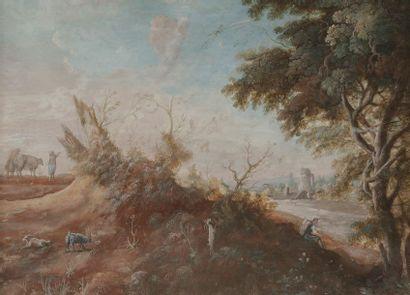 École ALLEMANDE du XVIIIe siècle  Paysage...