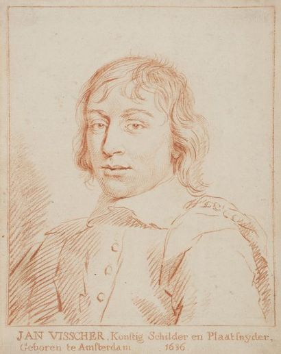 École HOLLANDAISE du XVIIIe siècle  Portrait...