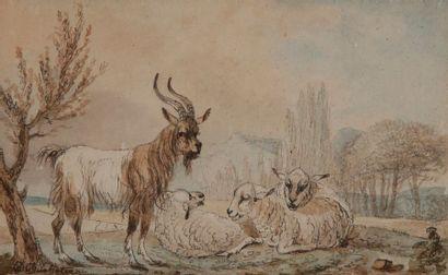 DUCHATEAU (actif au XVIIIe siècle)  Paysage...