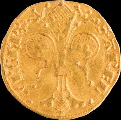 ETIENNE DE LA GARDE (1351-1361). Florin d'Or. Différent (très rare) : molette. 3,47g....