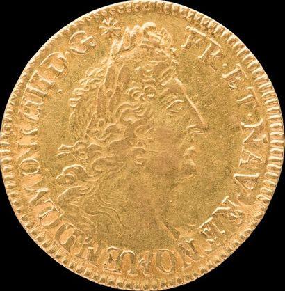 LOUIS XIV (1643-1715). Louis d'Or aux quatre...
