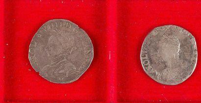 ANCIEN REGIME LOT de 2 monnaies en argent...