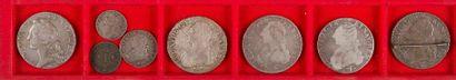 ANCIEN REGIME LOT de 9 monnaies en argent...