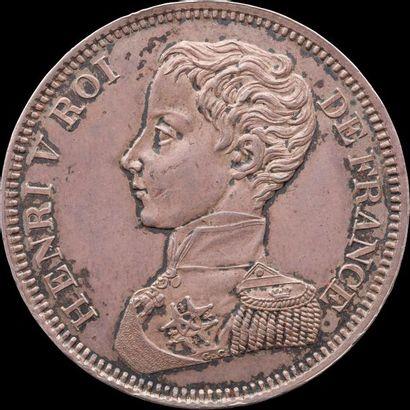 HENRI V Prétendant (1820-1883). Pièce de...