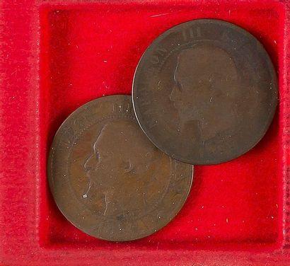 NAPOLEON III (1852-1870). LOT de 57 monnaies divisionnaires : 40 ex. en argent type...