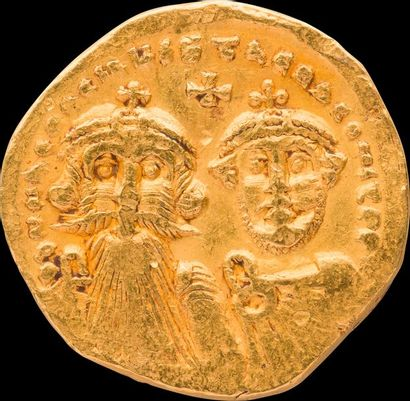 Solidus d'or - Byzance Heraclius & son fils...