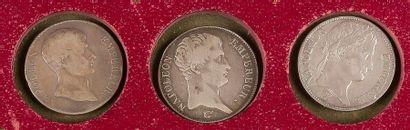 TYPE NAPOLEON I (1804-1815). LOT de 3 pièces...