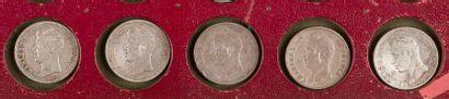 TYPE CHARLES X (1824-1830). LOT de 5 pièces...