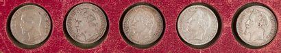 TYPE NAPOLEON III (1852-1870). LOT de 9 pièces,...