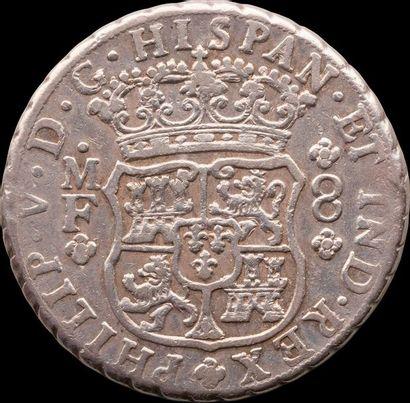 PHILIPPE V (1700-1746). MEXIQUE. 8 réaux, 1745. Mexico. KM.103 TB+