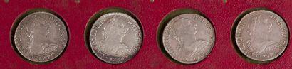 MEXIQUE. LOT de 4 pièces de 8 réaux type...