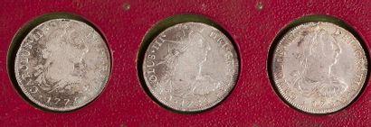 PEROU. LOT de 6 pièces de 8 réaux, 1776,...
