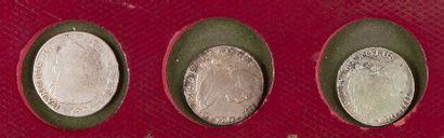 LOT de 6 pièces de 4 réaux en argent, dates et ateliers divers : 3 ex. de CHARLES...