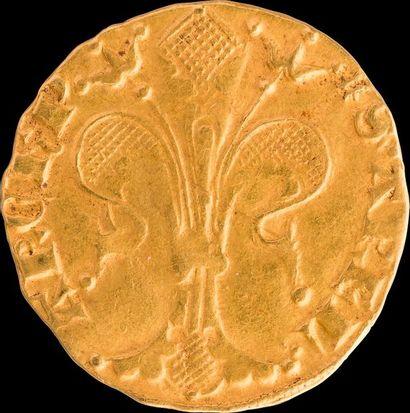 ETIENNE DE LA GARDE (1351-1361). Florin d'Or. Différent (très rare) : lettre G....