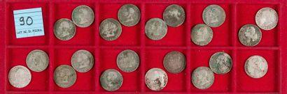 LOT de 21 pièces de 4 réaux en argent de...