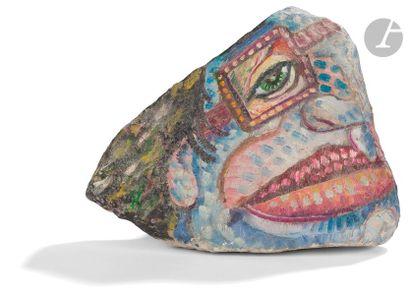 Igor ANDREEV (né en 1952) Profil Marbre peint....