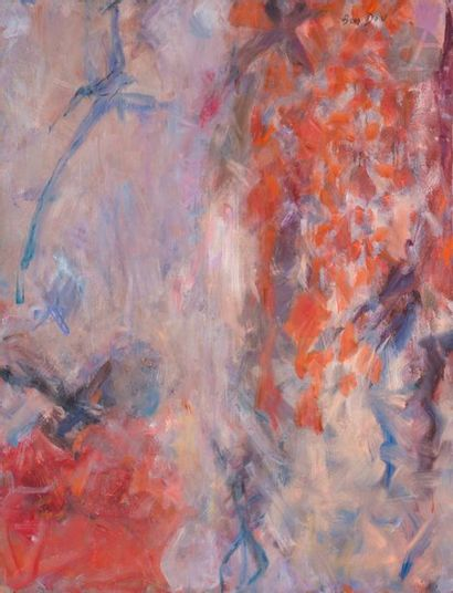 Hanna BEN DOV (1919-2009) Composition Huile...