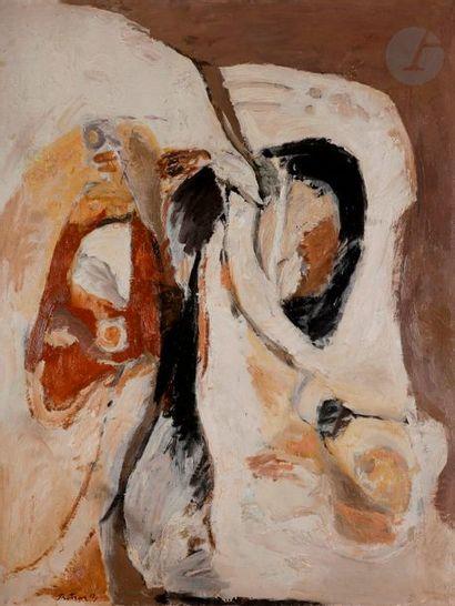 Albert BITRAN (1931-2018) Intérieur-extérieur,...