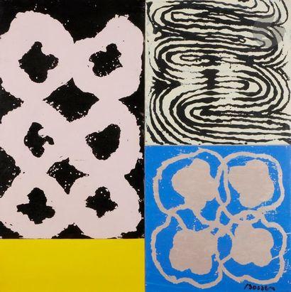 Jacques BOSSER (né en 1946) Composition Acrylique...