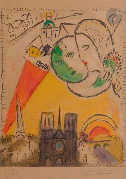 Marc CHAGALL (1887-1985) Le Dimanche, 1954...