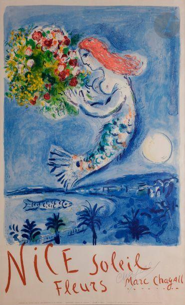 Marc CHAGALL (1887-1985) La Baie des Anges...