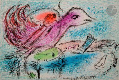 Marc CHAGALL (1887-1985) Derrière le miroir,...