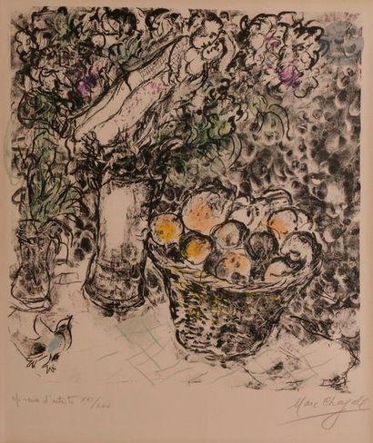 Marc CHAGALL (1887-1985) Couple au panier...