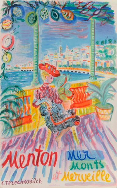 Constantin TERECHKOVITCH (1902-1978) Menton,...