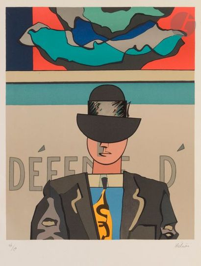 Jean HÉLION (1904-1987) L'Homme au chapeau...