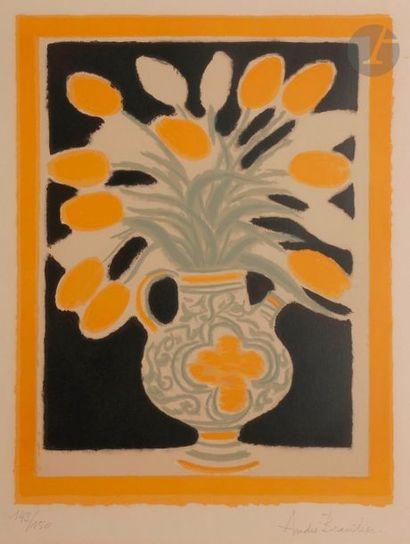 André BRASILIER (né en 1929) Le Vase italien,...