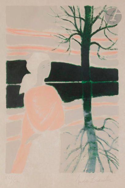 André BRASILIER (né en 1929) L'Étang (pl....