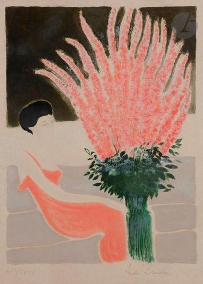 André BRASILIER (né en 1929) Mélodie en rose,...