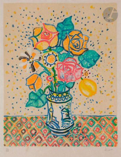 Paul AÏZPIRI (1919-2016) Bouquet de fleurs,...