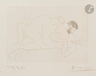 Pablo PICASSO (1881-1973) Homme et femme,...