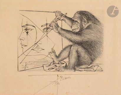 Pierre-Yves TRÉMOIS (né en 1921) Le Chimpanzé...