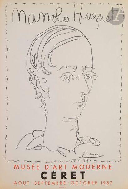 Pablo PICASSO (1881-1973) Manolo Hugnet (affiche...