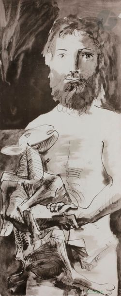 Pablo PICASSO (1881-1973) (d'après) L'Homme...