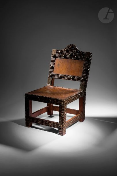 Une ancienne chaise asipim, qui signifie...