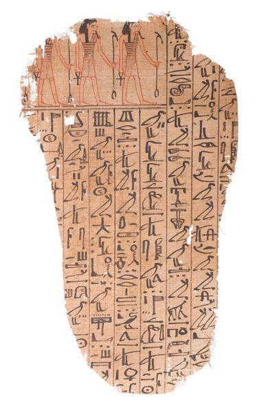 ÉGYPTE. Fragment d'un LIVRE DES MORTS. Ce...