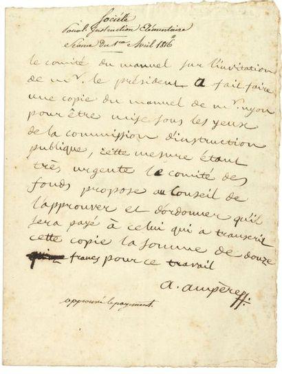 ampère André (1775-1836) physicien et mathématicien,...