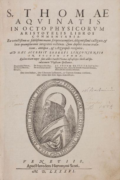 [ARISTOTE]. THOMAS D'AQUIN (1225-1274). JEAN...