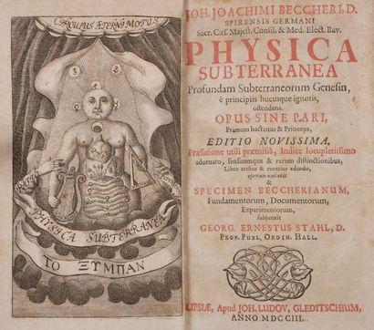 BECHER Johann Joachim (1635-1682). Physica...