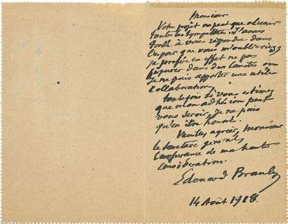 BRANLY Édouard (1844-1940) physicien. L.A.S....