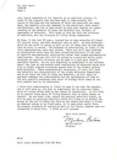 CALVIN Melvin (1911-1997) biochimiste américain...